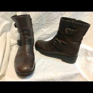 Tory Burch ankle boots.  2 buckles/zipper.  Sz 8M